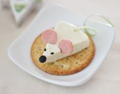Original merienda, ratón de queso. Más fácil... Imposible. #recetas saludables