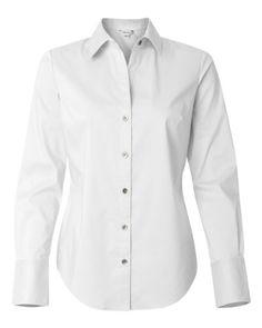 Calvin Klein Ladies' Cotton Stretch Dress Shirt. 13CK018
