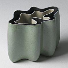 Home Decor Objects Ideas : Bente Hansen, Danish ceramist Glass Ceramic, Ceramic Art, Ceramic Cups, Pottery Vase, Ceramic Pottery, Verre Design, Big Vases, Paper Vase, Sculptures Céramiques