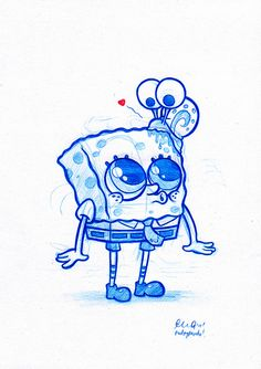 Blue Doodle #5: Snail Love | Flickr – Compartilhamento de fotos! Cutest thing everrrrrr