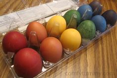 For all my Christian friends. This is a good way to colour your eggs without the nasty chemicals.