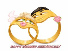 Happy Anniversary Wishes Images and Quotes. Send Anniversary Cards with Messages. Happy wedding anniversary wishes, happy birthday marriage anniversary Happy Wedding Anniversary Quotes, Happy Anniversary Wishes, Anniversary Funny, Smileys, Cartoon Mignon, Engagement Ring Pictures, Wishes Images, Gift Quotes, Wedding Humor
