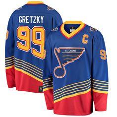 2e3bf9ca6d27 Men s St. Louis Blues Wayne Gretzky Fanatics Branded Blue Premier Breakaway  Heritage Player Jersey