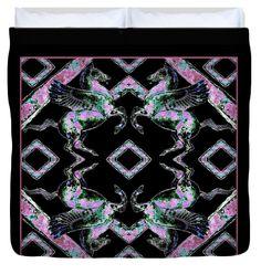"Pegasus  Mirror  King (104"" x 88"") Duvet Cover"