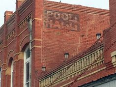 ghost sign for Pool Hall – Lockhart, Texas