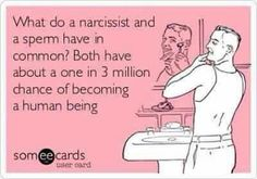 narcissist funny not funny but very true!