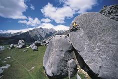 Rock climbing at Castle Hill. The limestone outcrops at Castle Hill are one of New Zealand's finest rock-climbing sites. There are five main areas, with around 250 climbs and over 1,000 boulder challenges.