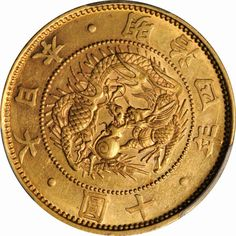 Japan 10 Yen Gold coin Meiji 1871