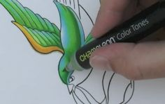 The Chameleon Pen is a single pen capable of producing multiple color tones. Using a special mixing nib filled with toner, the Chameleon Pen is able to produce different shades, from light to dark and back again.