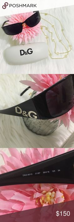Dolce & Gabbana Black Sunnies EUC! Product Description Frame Measurements: Eye-Bridge-Temple 59-16-125 Protection: 100% UVA & UVB  Frame Color: 01/87 Black Lens Color: Black ❌Trades Dolce & Gabbana Accessories Sunglasses