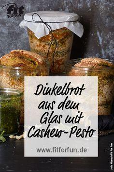 Leckeres Dinkelbrot, schnell und einfach im Glas zubereitet. #Brotrezept #Dinkelbrot #Frühstück #Fitfood