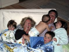 Mitt Romney and his grand kids on Christmas morning.