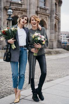 8.3. - Weltfrauentag | Kolumne | BFF: Masha Sedgwick & Lisa Banholzer | Matchalatte | Blogger aus Berlin | Best Friend Shooting with Flowers