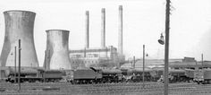 Darlington: Locomotives and power station 1961