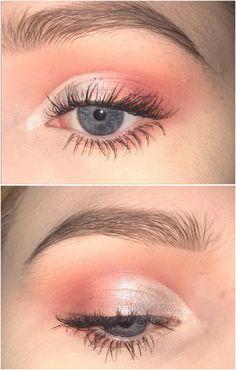 Peachy Half Cut Crease Ccw Makeupaddiction Makeup In 2019 Peachy Eyeshadow, Cut Crease Eyeshadow, Cut Crease Makeup, Eyeshadow Looks, Eyeshadow Makeup, Silver Eyeshadow, Eyeshadow Palette, Simple Eyeshadow, Smokey Eyeshadow