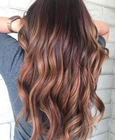 Red brown and caramel balayage-ombre-melt from Inspire Hair in San Lorenzo, CA! So much dimension! Janette was my stylist... Exactly what I wanted!