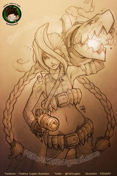 Jinx Finished by FEDsART.deviantart.com on @deviantART