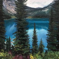 'Emerald Lake' by Andrew Newton. Landscape depicting Emerald Lake in British Columbia, Canada. Oil & Acrylic on canvas 90 x For more details visit our website. Emerald Lake, Cityscapes, British Columbia, Insta Art, New Art, Contemporary Art, Landscapes, Around The Worlds, Canada