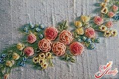 How to Make Beautiful 3D Flower with Thread Embroidery | www.FabArtDIY.com LIKE Us on Facebook ==> https://www.facebook.com/FabArtDIY