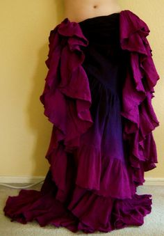 """Rhapsody Ruffles"" Gothica 18 Yard Skirt  You can order yours here:  http://www.paintedladyemporium.com/Shop-Here.html"