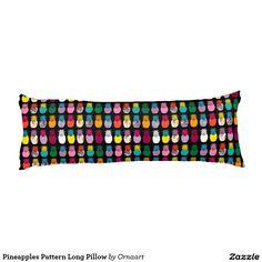 Pineapples Pattern Long Pillow