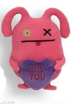 """Gund Ugly Valentines Heart Luv You Ox Little 7"""" Plush #GUND"""