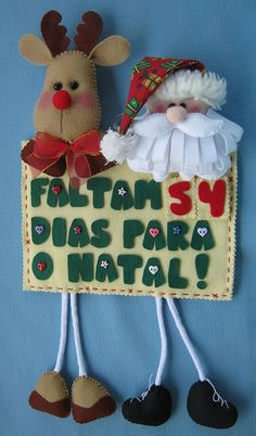 Calendário do Natal! by Arte & Mimos, via Flickr