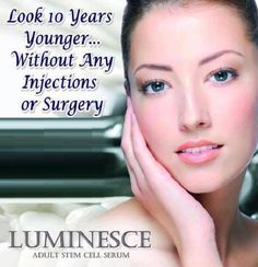 The one and only Luminesce Skin Line by Jeunesse. The Luminesce anti-aging skin care line restores youthful vitality and radiance to your skin, reduces the appearance of fine lines and wrinkles and reveals your unique glow. Dermatologist developed, these hydrating formulas include the exclusive, proprietary APT-200, maintaining younger, smoother, and softer looking skin. http://gotdreams.jeunesseglobal.com/en-US/luminesce/