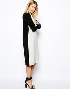 Midi Contrast Shift Dress $92.60 any size