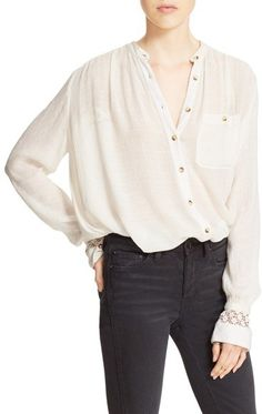 79e35f4e Women's Free People 'The Best' Button Front Blouse, Size X-Small -