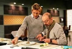 Norbert with Curtis Stone. Guest judge on Top Chef Masters.