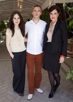 Michelle Dockery, Dan Stevens, and Elizabeth McGovern
