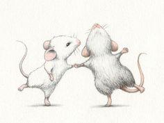 cartoon mouse drawing with heart Illustration Mignonne, Children's Book Illustration, Ballet Illustration, Cute Animal Illustration, Animal Illustrations, Animal Drawings, Art Drawings, Pencil Drawings, Art Mignon