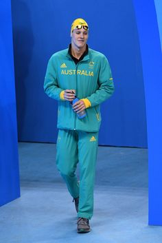 Mitch Larkin of Australia looks on in the Men's 100m Backstroke Final on Day 3 of the Rio 2016 Olympic Games at the Olympic Aquatics Stadium on August 8, 2016 in Rio de Janeiro, Brazil.