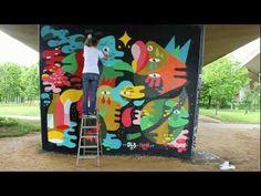 spray paint mural... oli-b