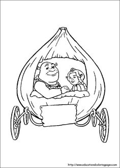 Pin by Magic Color Book on Shrek Coloring pages free online ...