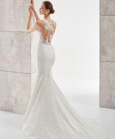 Vestidos de novia tipo sirena con encaje