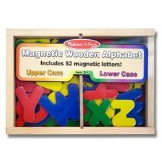 Melissa & Doug Magnetic Wooden Alphabet - love these!  The kids always run to the refrigerator first thing when they come downstairs.  Christmas 2014.