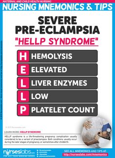 Severe Pre-Eclampsia: HELLP Syndrome Nursing Mnemonics and Tips… Postpartum Nursing, Newborn Nursing, Child Nursing, Ob Nursing, Nursing School Tips, Nursing Career, Nursing Tips, Nursing Notes, Nursing Students
