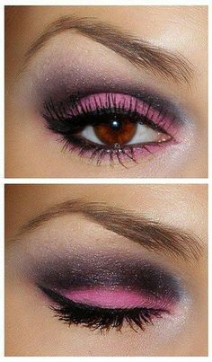 Pretty brown eye makeup