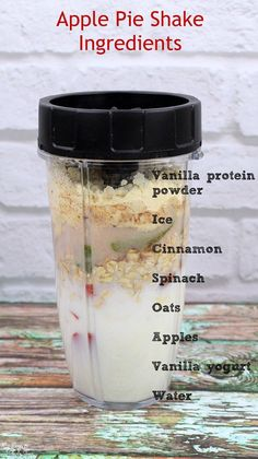 Healthy Snacks Looking for a healthy protein shake for breakfast or a snack? Try this INSANELY good Apple Pie Shake - it's taste just like the real thing, but healthier! - This easy smoothie recipe really tastes just like apple pie, but is way healthier! Healthy Protein Shakes, Protein Shake Recipes, High Protein Snacks, Breakfast Protein Smoothie, 310 Shake Recipes, Muscle Protein, Oatmeal Protein Shake, Pumpkin Protein Shake, Arbonne Shake Recipes