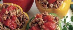 Healthy stuffed peppers.