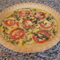 Caprese Quiche ~ Allrecipes.com Itallian style with mozzerella cheese, tomatoes and fresh basil. YES!