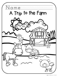 These 3 coloring sheets feature adorable animals you would see on a trip to the farm, making them a great time filler or art activity for your farm unit! 3 Year Old Preschool, Free Preschool, Preschool Lessons, Preschool Crafts, Preschool Farm, Sensory Activities Toddlers, Farm Activities, Classroom Activities, Robot Classroom