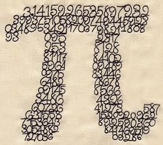 How cool is this?  Perfect for Pi Day,  or really any day.
