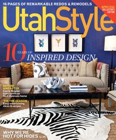 Complementary Colors- Utah Style Magazine's use of Yellow font against a deep purple background is an example of a complementary color scheme.