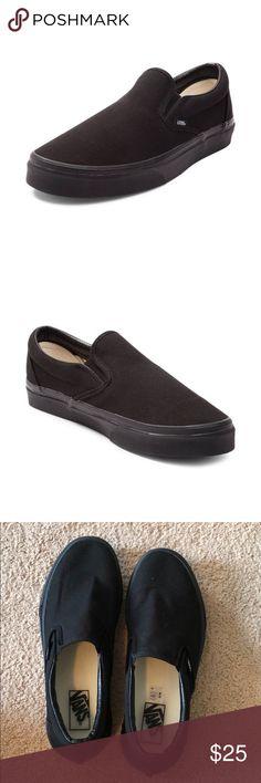 73558023ac99ca Black slip on vans Great condition Size  10 Vans Shoes Vans Shoes