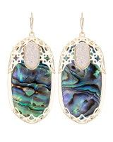 Deva Statement Earrings in Abalone Shell- Kendra Scott Jewelry.