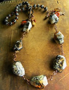 Fire Agate Necklace by Gloria Ewing