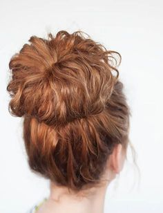 18 Updos for Curly-Haired Girls via Brit + Co